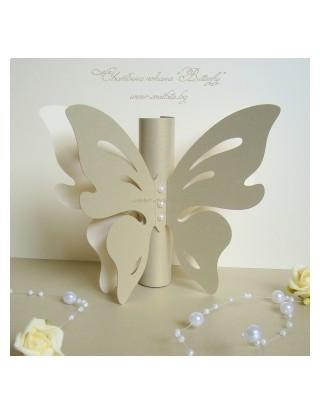 Сватбена покана Butterfly